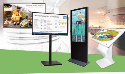Nos écrans d'affichage dynamique
