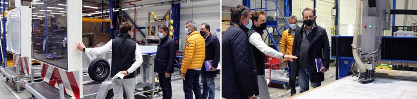 visite du maire de Carros sur notre site industriel
