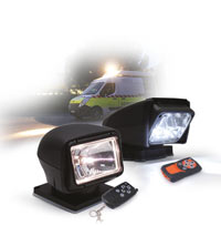 Remote control searchlight