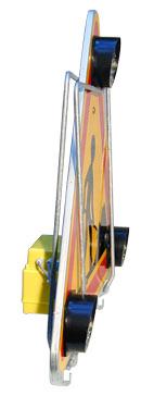 TRIANGLE LUMINEUX DE CHANTIER 1000 TRIFLASH - Ø 130/30 LEDS+ Boitier 4 piles