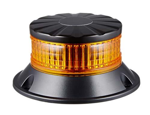 GYROPHARE LEDS - ORANGE - EMBASE PLATE - MODE TOURNANT- 12/24 V