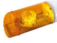 RAMPE LUMINEUSE LED - 2 FEUX ORANGE - 12/24 V - 970 mm - AVEC TEXTE