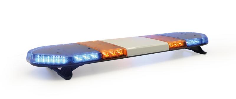 RAMPE PLATE - 48 leds bleu et oranges avec texte - 1252 mm