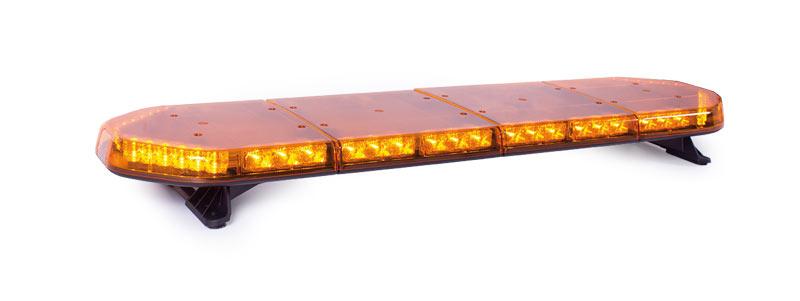 RAMPE LUMINEUSE PLATE - 60 leds jaunes - longueur 1252 mm