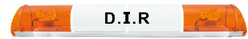 RAMPE LUMINEUSE LED - 2 FEUX ORANGE - 12/24 V - 970 mm - AVEC TEXTE -