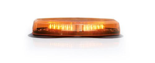 RAMPE LUMINEUSE PLATE - 24 leds orange magnétique 12-24V 355 mm