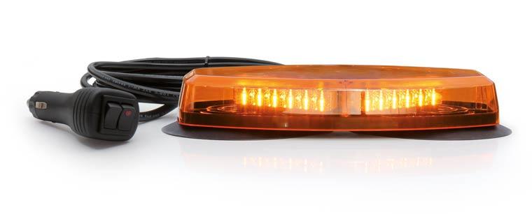 ORANGE ULTRA-FLAT LIGHT BAR - 12/24V, 355 mm, magnetic