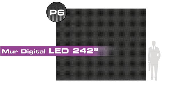 Mur digital led 242 615 cm pitch de 6 4 3 for Affichage led exterieur