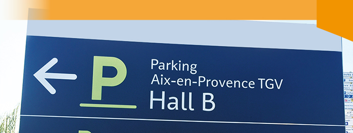 Panneau PVC 10 mm parking Gare TGV