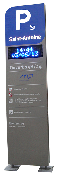 Totem + afficheur dynamique à leds - Ville de Monaco