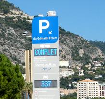Totem dynamique avec électronique - Monaco