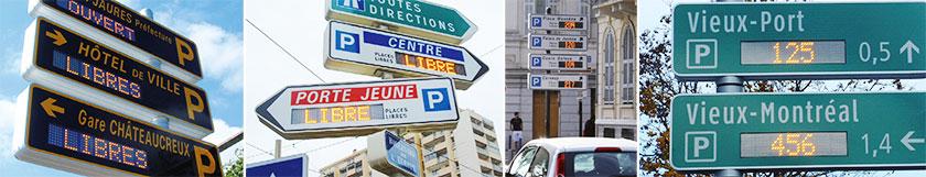 jalonnement dynamique de parking